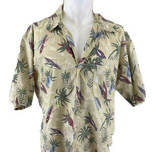 Woolrich Men's Short Sleeve Hawaiian Button Down